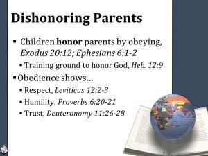 dishonoring
