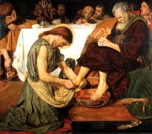 "Ford Madox Brown. ""Jesus Washing Peter's Feet."" 1852-56"