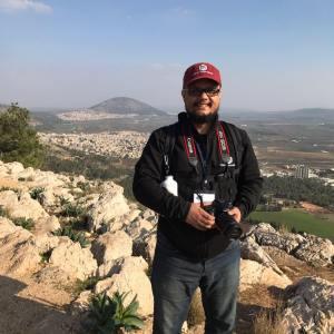 Me on top of Mt. Precipice in Nazareth.